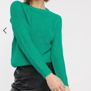 B.Young Green round neck Melissa Pullover sweater